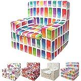 Sillón Infantil de Espuma Modelo Happy, Estampado Colors, Medida 44x46x35cm