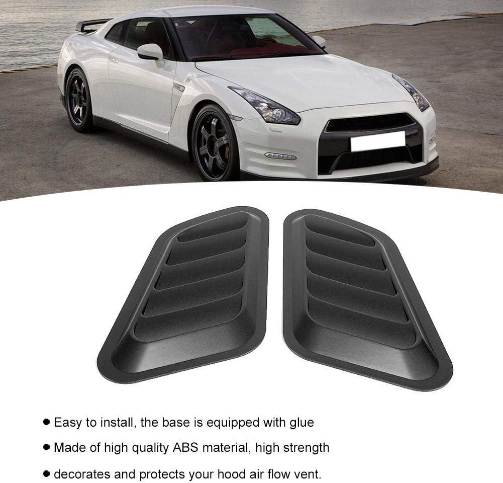 SolUptanisu Car Vent Decorative Air Flow Cover Car Sticker ABS Decorative Air Flow Intake Bonnet Vent Hood Cover Black