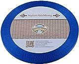 Country Brook Design 3/8 Inch Royal Blue Heavy Nylon Webbing