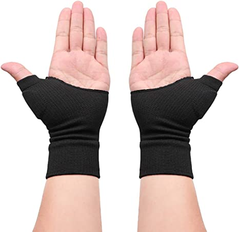 2Pcs Gloves Gel Filled Thumb Hand Wrist Support Arthritis Compression Magnetic