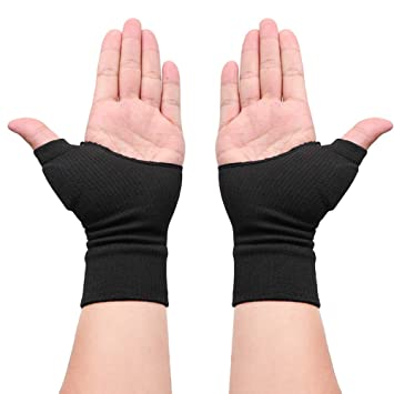 Ztl 1 Pair Therapy Gloves Gel Filled Thumb Support Wrist Brace Arthritis  Compression for Men \u0026 Women