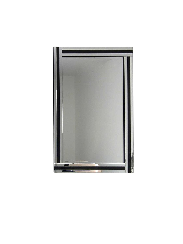 70cmx100/cm Moderne Noir et Argent Triple Miroir Mural biseaut/é 3/FT3/X 2/FT3/