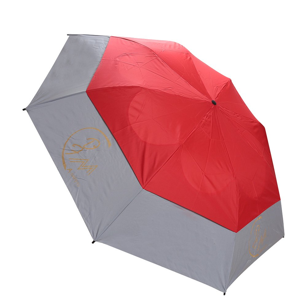 Travel Umbrella Strong Large Windproof Automatic Open & Close Folding Rain Rreflective Safty Umbrella, Water-Resistant Satin Fabric, Safety Telescopic Rod Red by A-safty