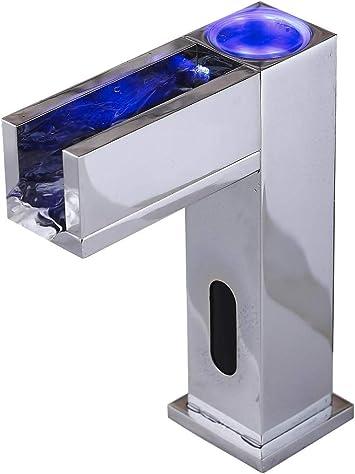 fyeer LED de agua fría & caliente Sensor automático grifo moderno ...