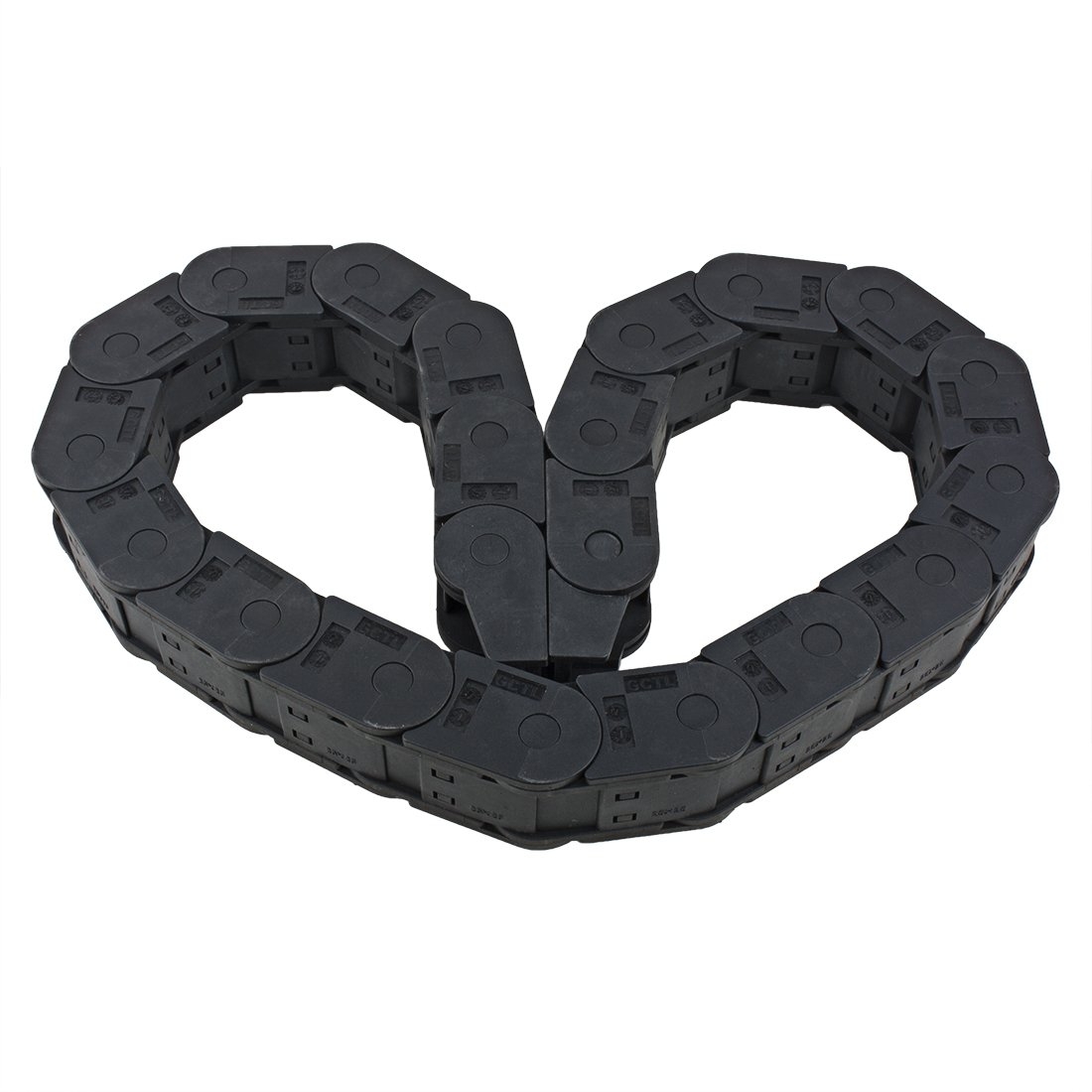 uxcell R18 10mm x 10mm Black Plastic Cable Wire Carrier Drag Chain 1M Length for CNC a16072900ux0337