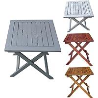 Promafit Table d appoint Pliable en Bois Dionysos - Table Basse Pliante en Bois - Tables Jardin d'appoint - Bois d'eucalyptus - pilant - 4 Couleurs - résistant aux intempéries