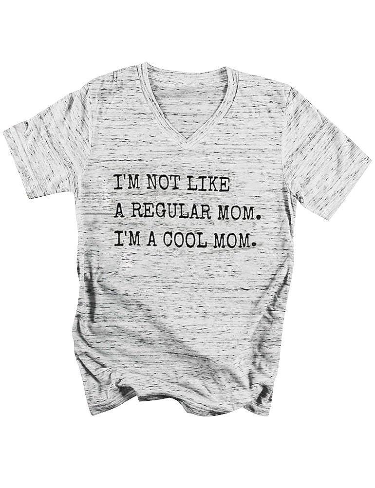 Light Grey SCX Mom TShirt Letter Printed I'm NOT Like A Regular MOM I'm A Cool MOM Basic Shirt Top