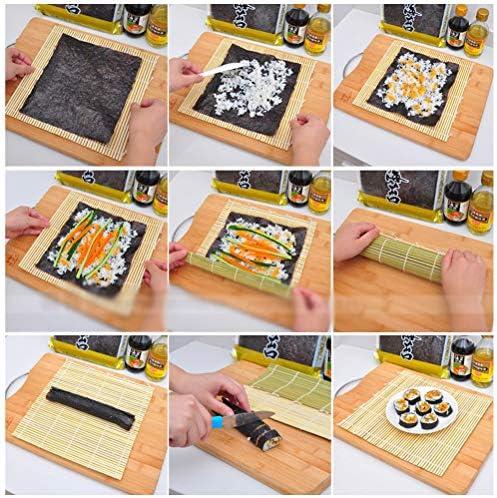 bestonzon tapis sushi natte a sushi rouleau en bambou 30 x 30cm
