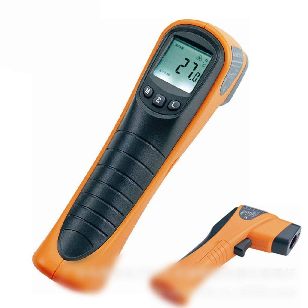 ALLCIAA The Distance To Target Size Ratio Is D: S = 12:1 Thermometer Infrared Thermometer -25°C~600°C Emissivity Adjustable Temperature Gun Temperature Non-contact Infrared Thermometer