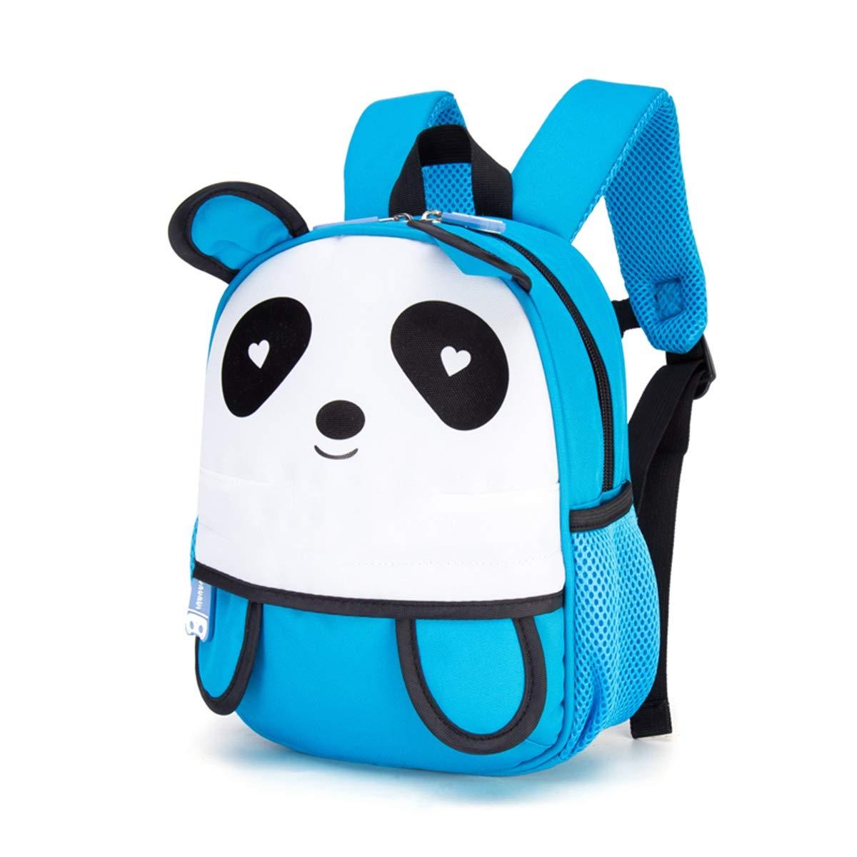 c35021b007 AHWZ 3D Bambini Bambini Bambini Zaino Carino Cartoon Bambino Panda Scuola  Borsa da Viaggio Zaino con Gancio perduto,blu 574514