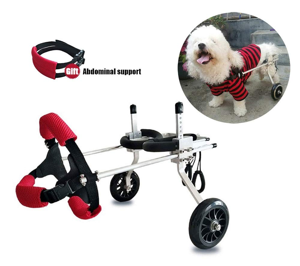 Dog Wheelchair,Pet cart,Suitable for Big Small Dogs Cat Puppy Hind Legs Rehabilitation Handicapped Disabled Paralysis Injured Assist Walking,Adjustable,2 Wheels,1kg (2.2lbs)-50kg (110lbs) Pound by Hwt Dog Wheelchair