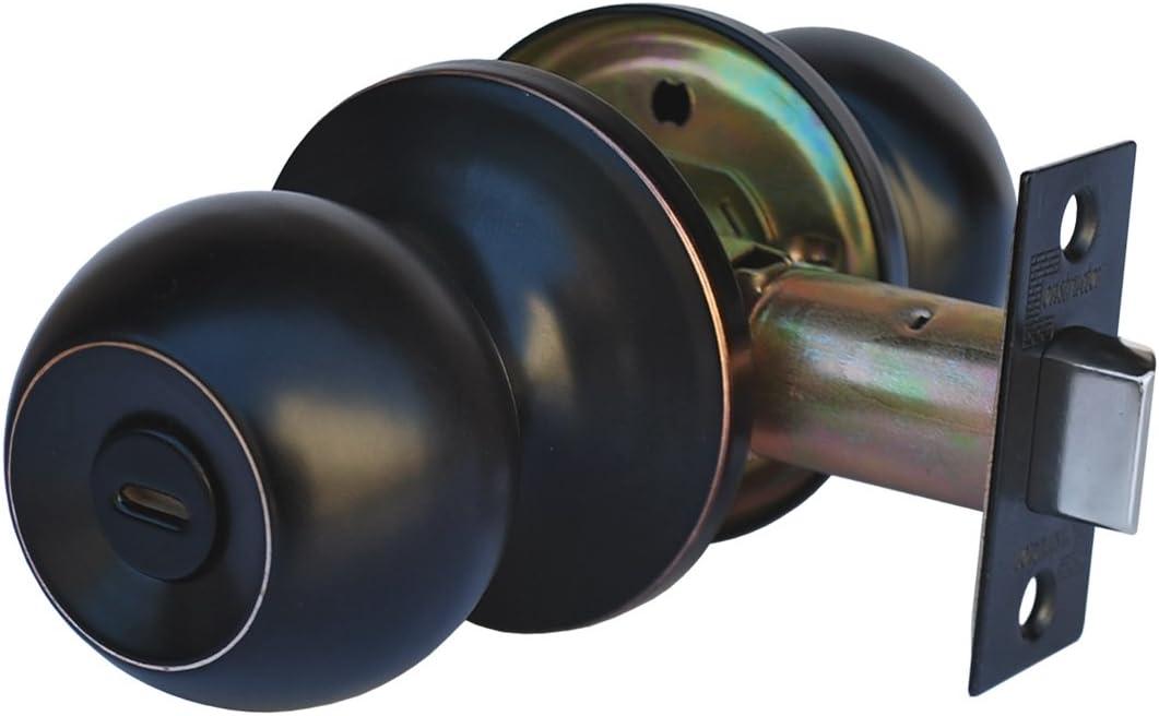 Iron Door Adjustable Strike Plate Kit including machine screws Oil Rubbed Bronze