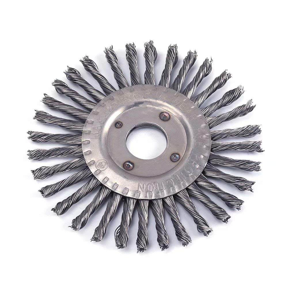 4 Inch Twisted Wire Wheel Brush with 7//8 Bore Knotted Wire Brush for Metal Polishing Cleaning Removing Paint Rust and Corrosion Max 12500RPM
