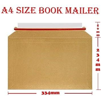 100pcs a4 book mailers rigid cardboard envelopes books dvd s 334mm x