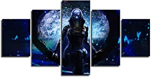 Artwork Canvas Painting Hd Home Decoration 5 Pieces Mass Effect Wall Art Game Figure Picture Living Room Posters-30X40 30X60 30X80 -Framed17Zhao Art
