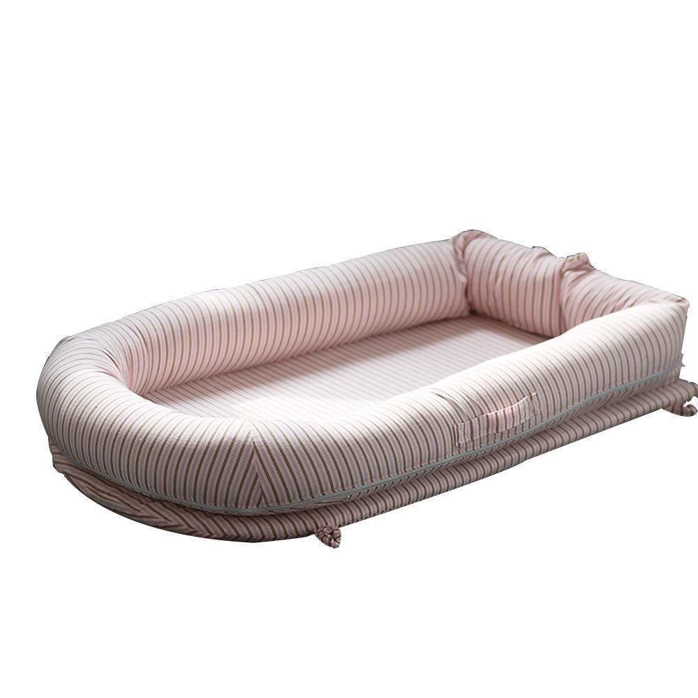HANSHAN ベビーベッド ベビーベッド、ベビーベッドバイオニックベッド模造子宮反圧スリーピングアーティファクト新生児ベッド3色0-3歳35×22インチ (色 : ピンク)  ピンク B07RR2Q2DN