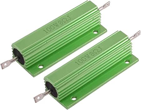 uxcell Green 10 Watt 16 Ohm 5/% Aluminum Shell Wire Wound Resistor