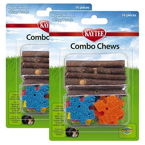 Kaytee Combo Chews, Apple Wood and Crispy Puzzle, 16 -