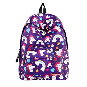 Amazon.com | Cute Unicorn Printing Backpack Women Fashion School Bags Teenagers Girls Female Travel Mochila Escolar B2000125C2 Fit 14inch laptop | Backpacks