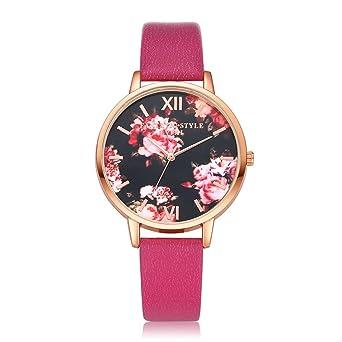 Amazon.com: Mujeres Flor relojes cooki Remoción Señoras ...