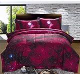 3D Galaxy Comforter Bedding Sets Home Textile including comforter pillowcase, Queen