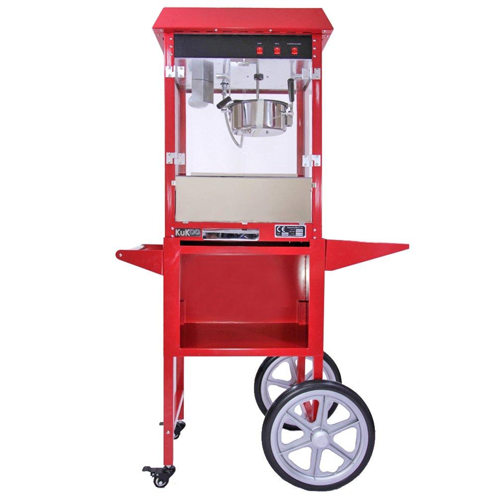 Máquina para Hacer Palomitas de Maíz Kukoo con Carrito: Amazon.es: Grandes electrodomésticos