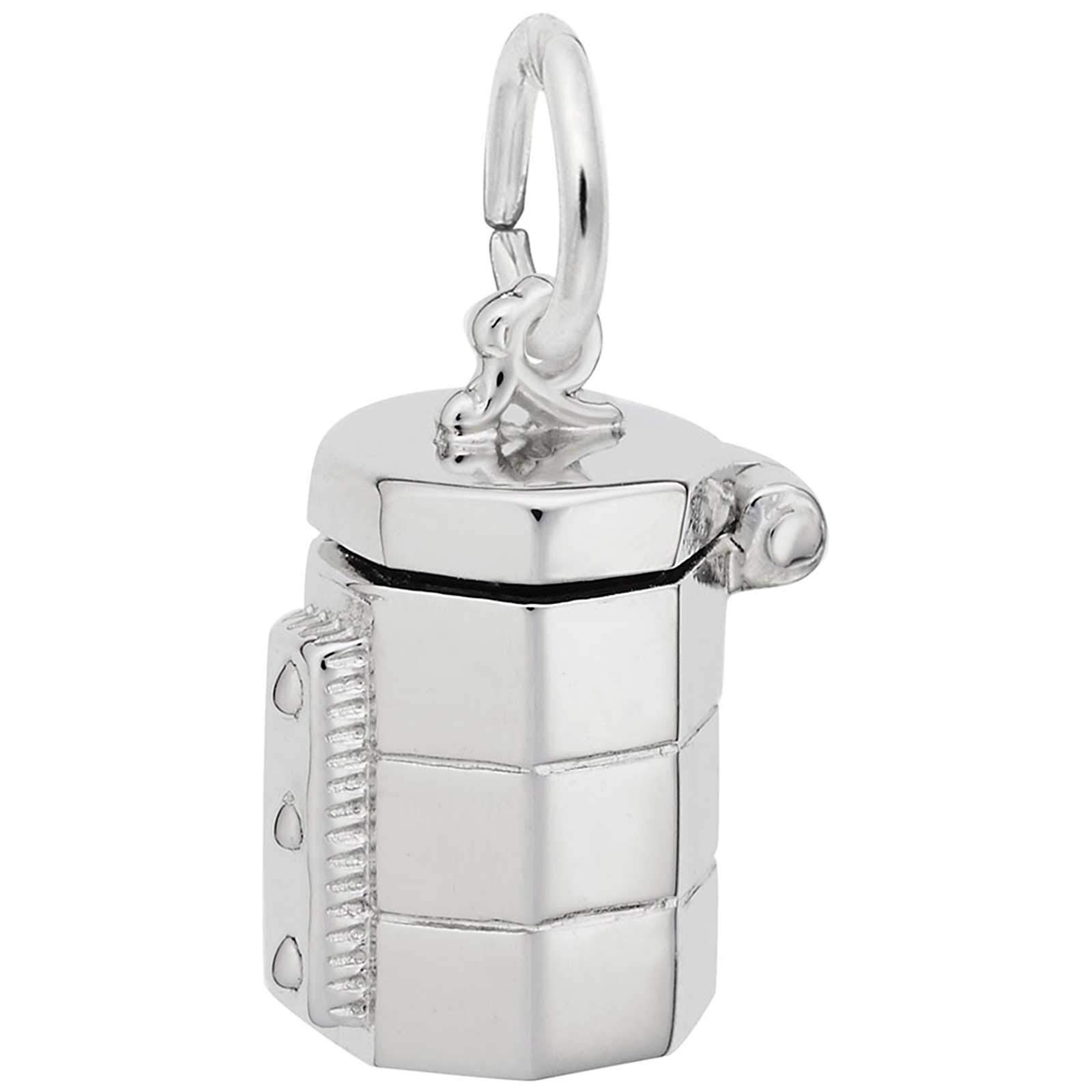 Rembrandt Charms Kiln Pottery Charm, Sterling Silver