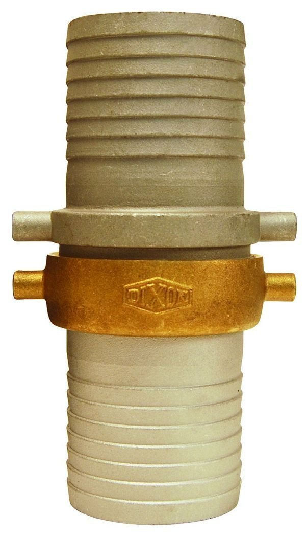 Dixon Valve CAB250 Aluminum Shank/Water Fitting, King Short Shank Suction Coupling with Brass Nut, 2-1/2'' NPSM x 2-1/2'' Hose ID Barbed