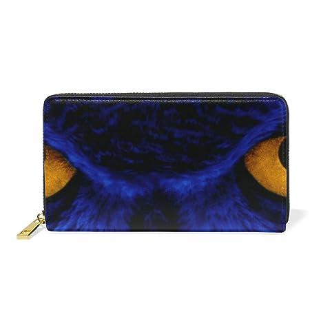COOSUN Piel Azul del búho Arte Digital del Monedero del ...