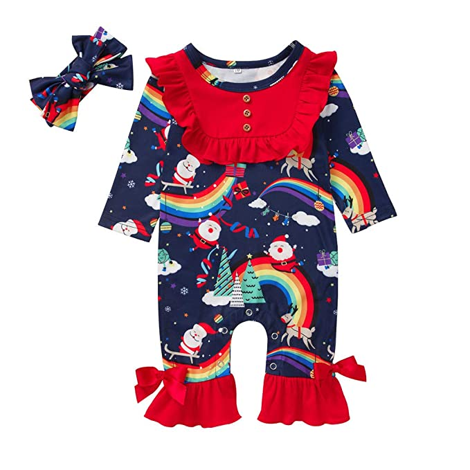 Amazon.com: Mono de Navidad para bebé y niña, diseño de ...