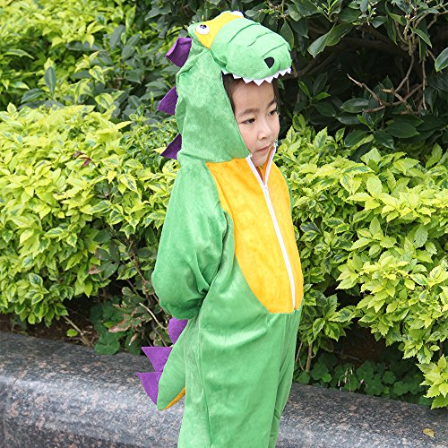 Children Party Costume Cartoon t-rex Costume Funny Clothes Performance Kids Dinosaur Cosplay Costume (M(Height 35.4''-41.3''/90cm-105cm), Dinosaur) by YOWESHOP (Image #4)