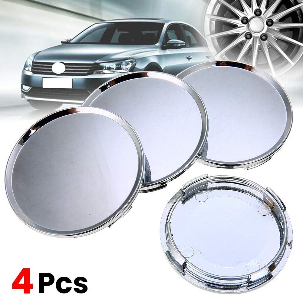 housesweet 4 pack Car Wheel Trim Hub Cap Covers Car Wheel Centre Caps Silver 63mm