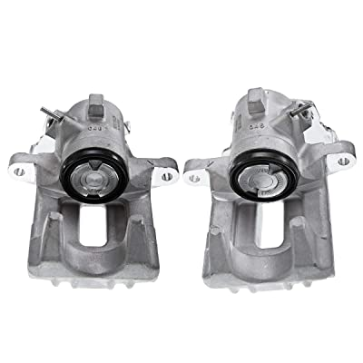 A Set of 2 Rear Disc Brake Caliper Assembly for Volkswagen Passat 1990-1997 Corrado 1990-1994 Golf 1985-1999 (with Return Spring): Automotive