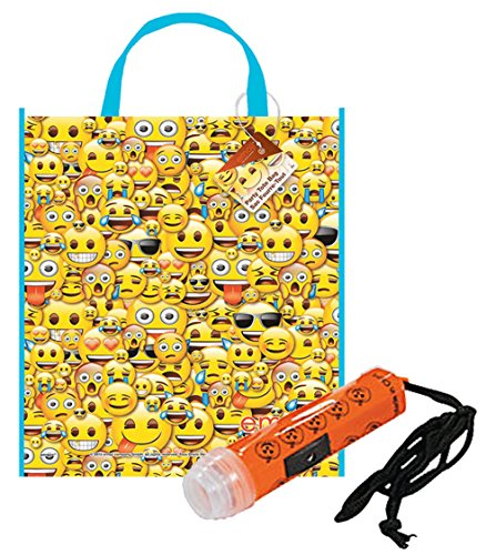 Emoji Trick or Treat Bag with Flashlight