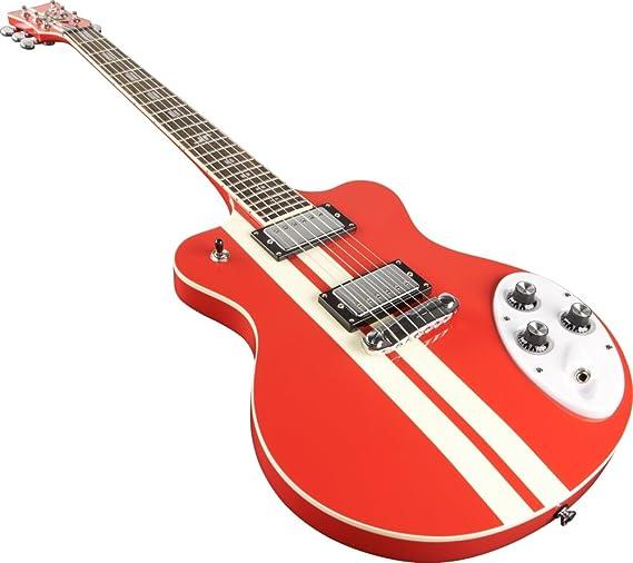 Italia Maranello SP - Guitarra eléctrica, color rojo: Amazon.es: Instrumentos musicales