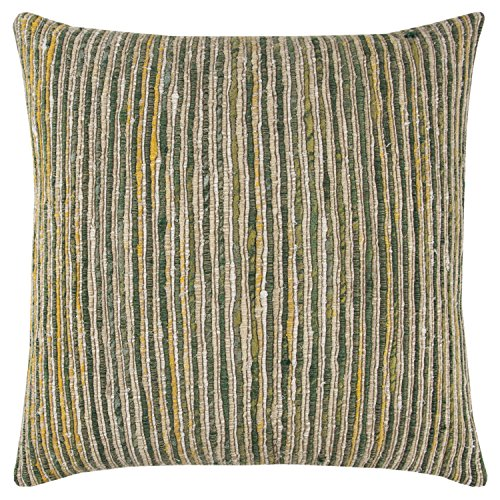 (Rizzy Home Decorative Polyester Filled Pillow Textural Stipe Decorative Pillow 22