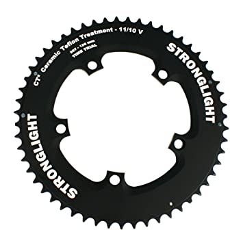 d6cdfcc60bf Image Unavailable. Image not available for. Color: Stronglight CT2 Ceramic  Teflon Chrono Time Trial 130mm Shimano Chainring ...