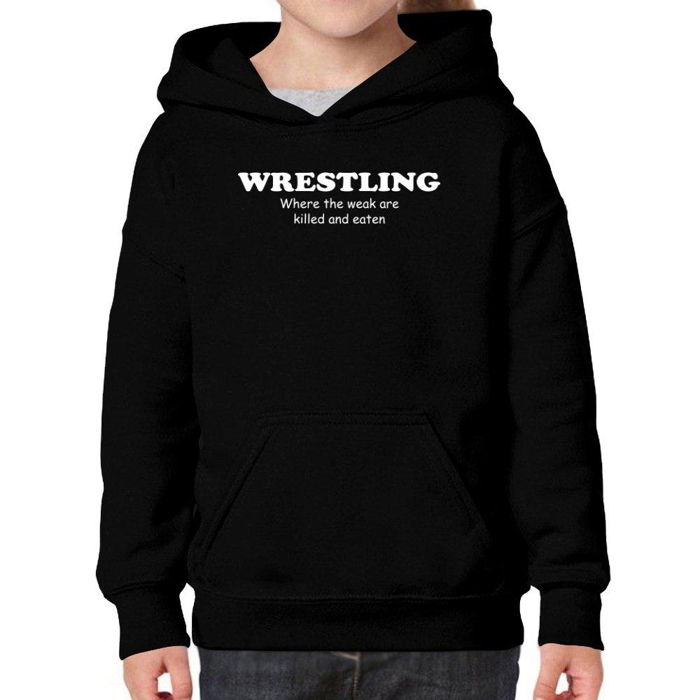 Teeburon Wrestling Where The WEAK Are Killed and EATEN Girl Hoodie