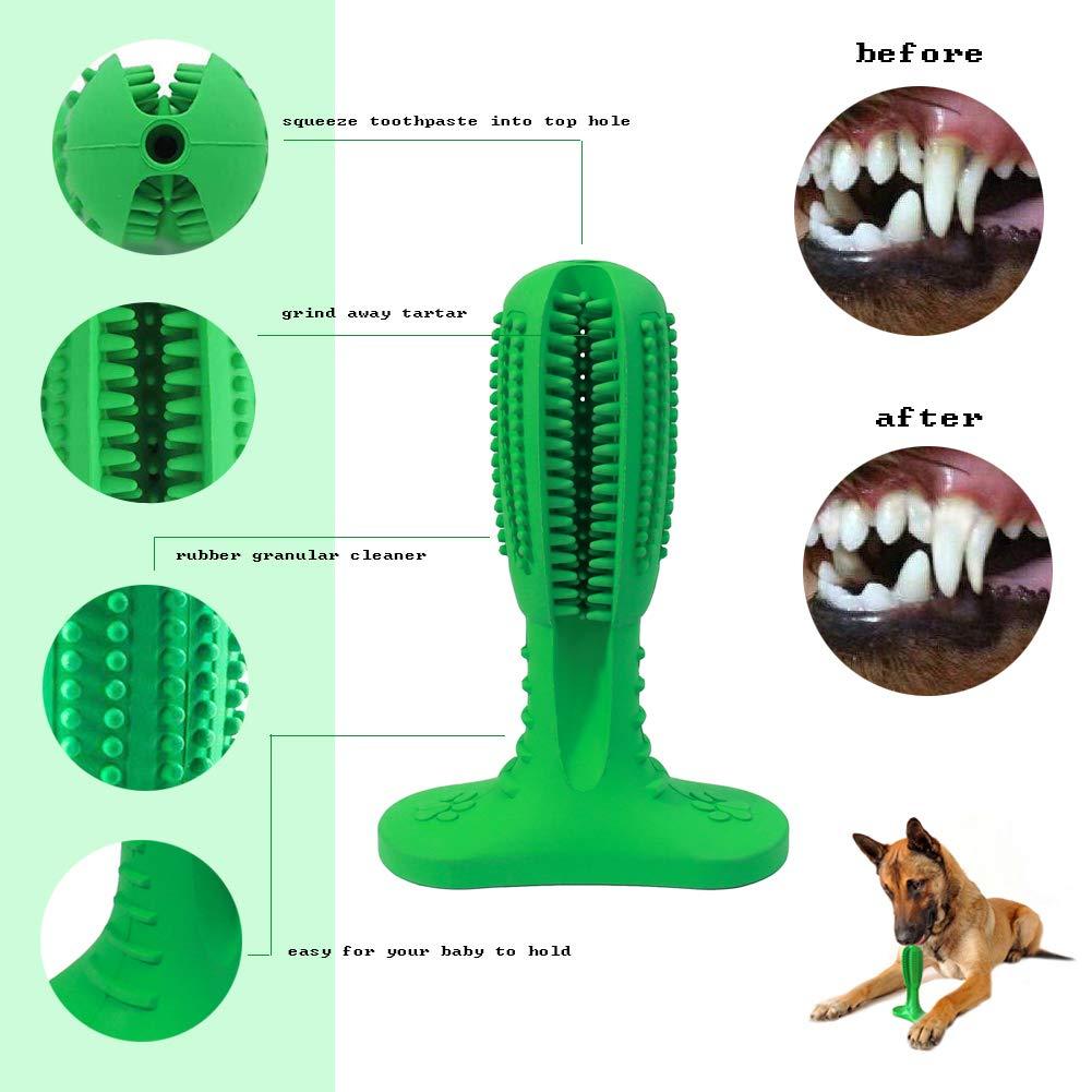 Iris Sprite Perro Cepillo de Dientes Cepillo de Dientes Limpieza de Juguetes Cuidado de los Dientes Juguetes de Goma Masticable Resistente a ...