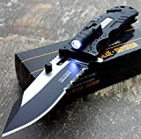 Rescue Survival Knife - TAC-FORCE KNIVES LED LIGHT Assisted Opening Rescue Knife