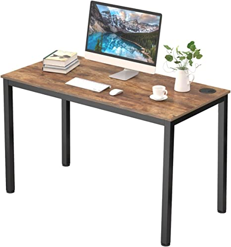 It's_Organized Study Computer Desk 47″ Home Office Writing Desk,Modern Simple Style PC Table