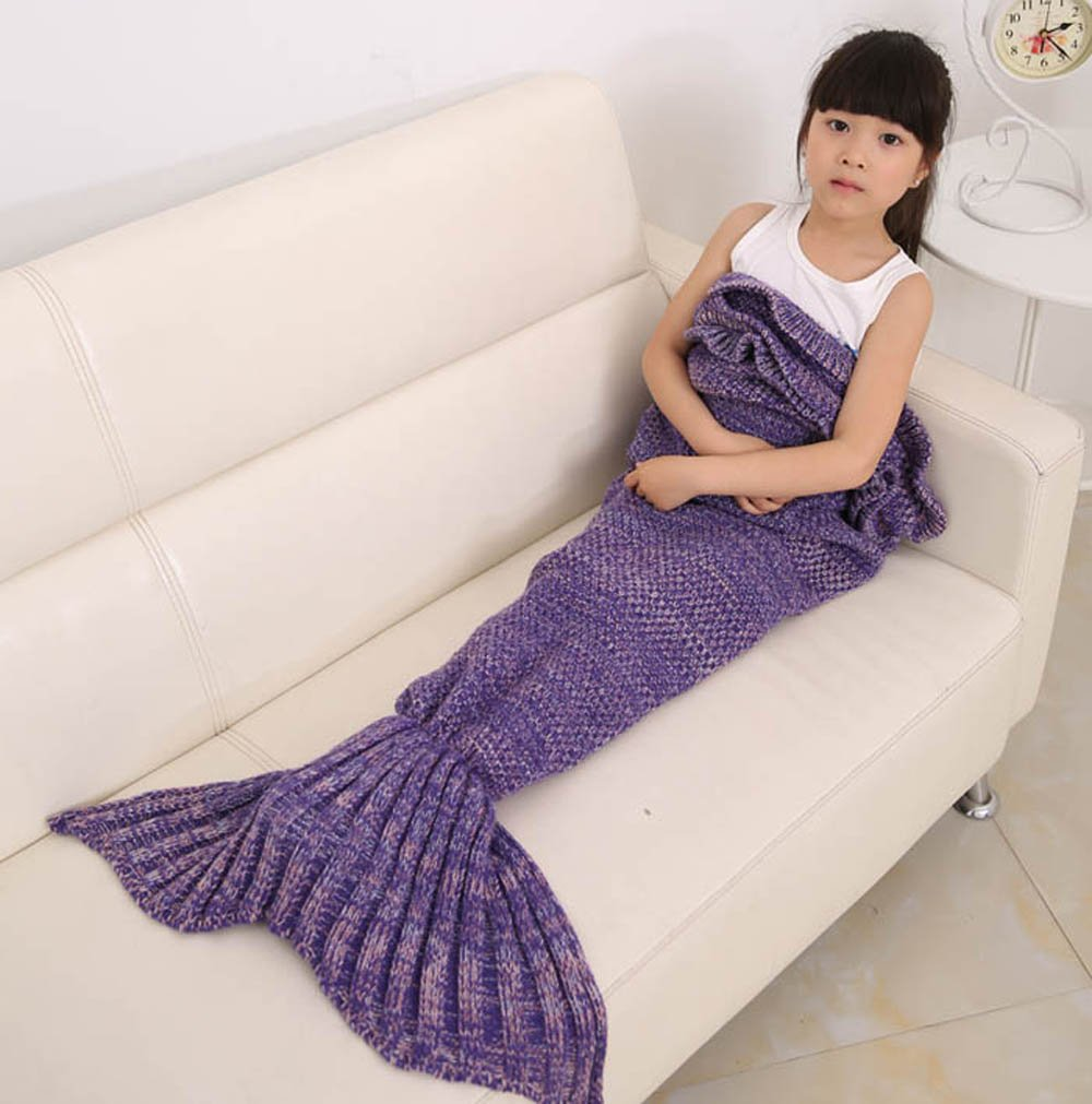 es unico knitted mermaid tail blanket for and kids