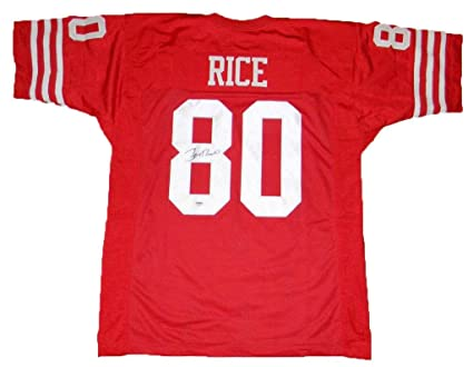 new product 56a4e 246c2 Jerry Rice Signed Jersey - #80 Throwback - PSA/DNA Certified ...