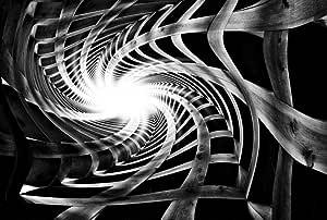 لوحة مطبوعة مع اطار من كانفاس جيت تحاكي تجريدي - قياس 67 سم X 100 سم