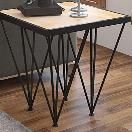 Mesas decorativas negras for espacios pequeños Mesas de anidamiento Mesas de centro de madera modernas de
