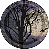 Spooky Night Halloween Paper Party Plates, 8ct