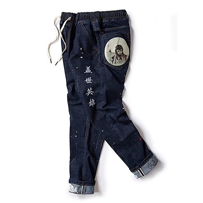 Stazsx Los Pantalones Vaqueros de Gran Tamaño del Bordado ...