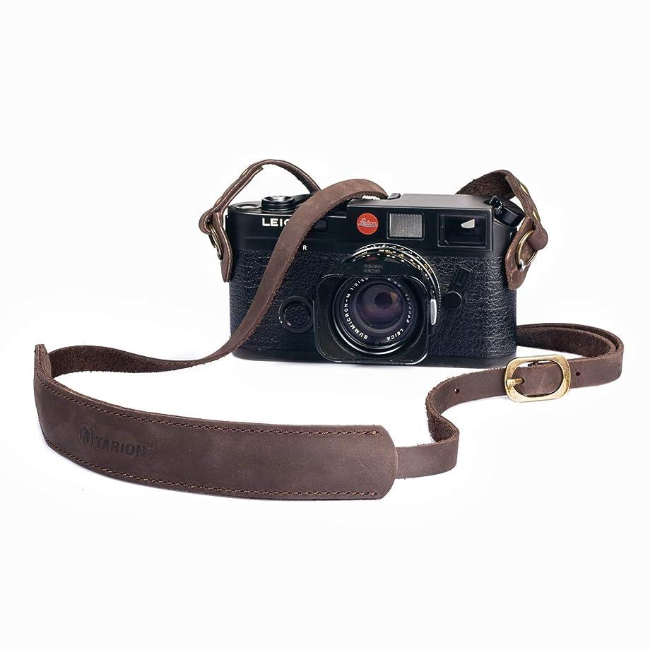 限られたマントルトランペットINPON カメラストラップ ネックストラップ 金属リング/リングカバー付き 一眼レフ/ミラーレス/コンパクトカメラ用 グリーン 線径8mm 全長105cm クライミングロープ製