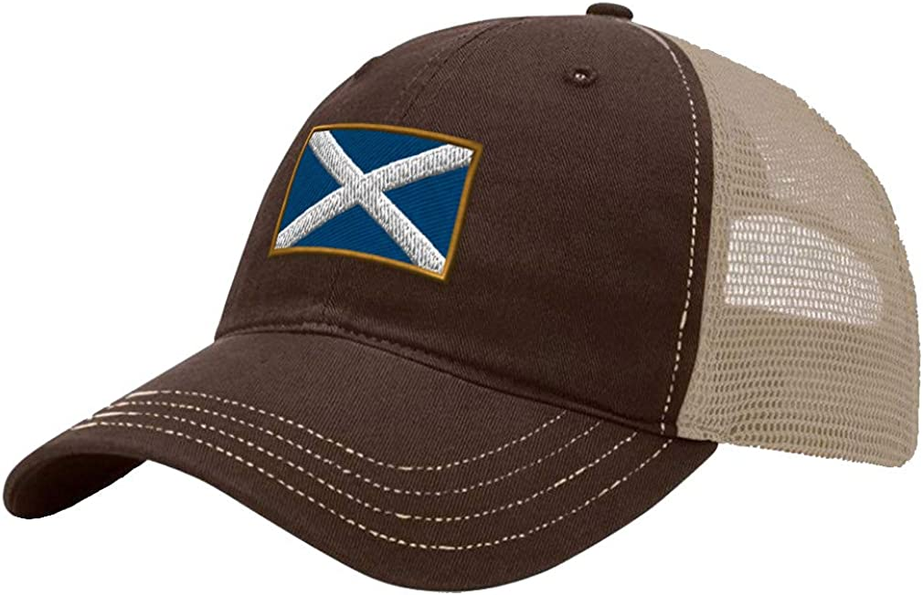 Custom Trucker Hat Richardson Scotland Embroidery City Name Cotton Soft Mesh Cap