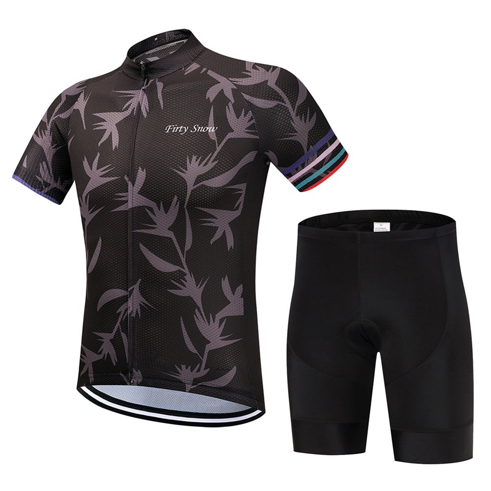 Beauty leader  Herren Classic Radtrikot Race fit Gel Gepolsterte Trägerhose Cycling Combo Set